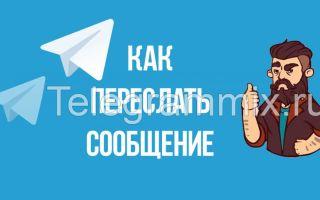 Как переслать сообщение в Телеграмме